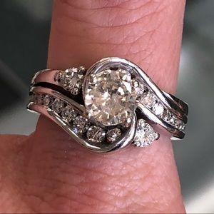 Jewelry - 14k Gold 1.95ct Diamond Wedding Ring Set
